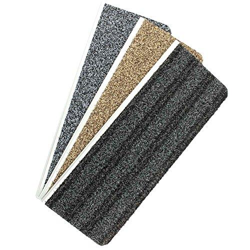 exklusiv-heimtextil Outdoorsicherheitsstufenmatte Cleans Crape mit Alu-Pressprofil 1 Stück Hellbraun