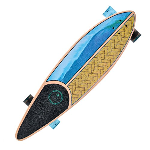 Kryptonics SK15161362 Longboard 37 Zoll Drop-Through Komplettboard mit ABEC 5 Kugellager, Skateboarding - Board California (Weaved)