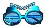 Faschingsfete Kostüm Brille - Handschellen Rap Hip Hop Hipster Swat Fancy Music Party, Blau