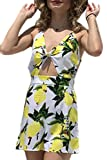 Frauen Im Sommer Rombers Riemen Schulterfreie Overalls Gelegenheits - Mango - Print Yellow L