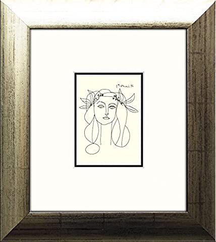 artissimo, Kunstdruck gerahmt, 35x39cm, AG3799, Pablo Picasso: Porträt Francoise Gilot, Bild, Wandbild, Poster, Wanddekoration