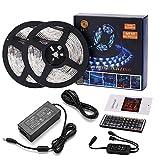 LED-Streifenlicht wasserdicht 32.8ft 10m Flexible Farbwechsel RGB SMD 5050 300leds LED-Kit mit 44 Tasten IR-Fernbedienung und 12V 5A Netzteil