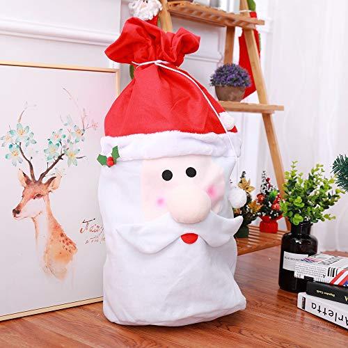 Bescita Weihnachtsmann Sackleinen | Geschenk Tasche Tote Bag Dekoration Weihnachten Dekor | Tasche Spielzeug Kinder Geschenk Ornament Dekoration | Santa Claus Geschenk (Bringen Sie Ihre Toten Kostüm)