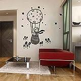 QTZJYLW Cartoon Heißluftballon Muster Wandaufkleber Für Kinderzimmer Kind Wohnkultur Wandtattoos (90 × 60 cm)