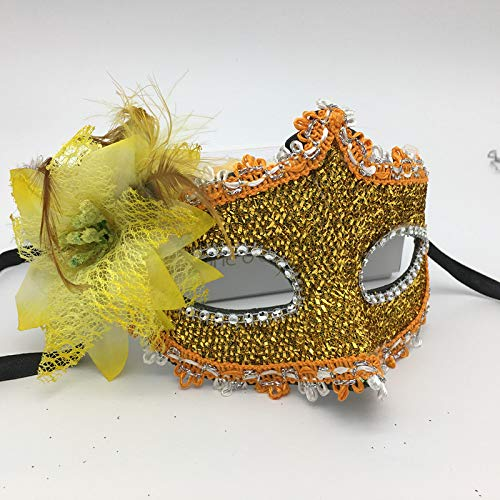 ZjkMr Halloween Schwarz Ball Maske Weibliche Halbe Gesicht Sexy Party Prinzessin Spaß Spitze Maskiert Kind Erwachsene Frau C 22 cm X 12 cm