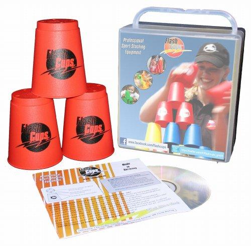 Preisvergleich Produktbild FlashCups 1002ROT - FlashCups rot, mit DVD