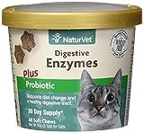 Garmon Corp Naturvet Digestive Enzymes Plus probiotici per Gatti, 60ct Morbido mastica, Made in USA