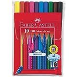Faber Castell 155310 - Fasermaler GRIP Colour Marker, 10er Etui