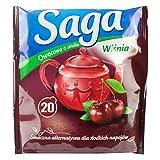 Früchtetee mit Kirsche 20 Beutel von Saga I Polnischer Tee & Heißgetränke