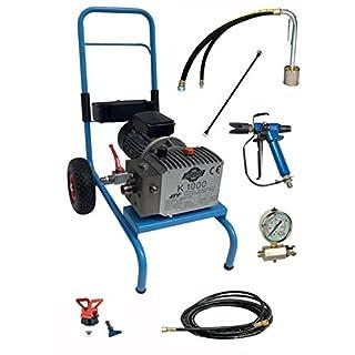 Asturo 0710002K Pumpe Hohe Druck Elektrische A Membran Roundup K1000mit Kit-Lackierung für Sprühen Produkte von nahen Hohe Dichte, Grau/Blau