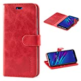 Mulbess Huawei Y6 2019 Case Wallet, Leather Flip Phone Case