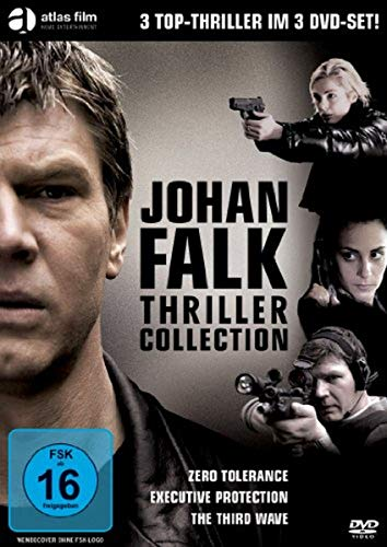 Johan Falk Thriller Collection ( Zero Tolerance - Zeugen in Angst / Executive Protection - Die Bombe tickt / The Third Wave - Die Verschwörung ) [3 DVDs]