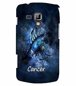 PrintVisa Zodiac Cancer 3D Hard Polycarbonate Designer Back Case Cover for Samsung Galaxy S Duos S7582
