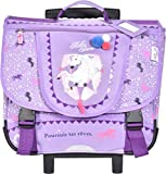 Cartable à roulettes 41 cm Violet Cheval Bella Sara KID'ABORD