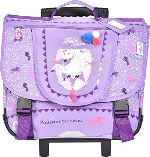 Cartable à roulettes 41 cm Violet Cheval Bella Sara...
