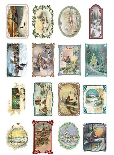 papier-fur-scrapbooking-und-decoupage-10-blatt-20x30cm-weihnachten-winterlandschaften-flonz-vintage