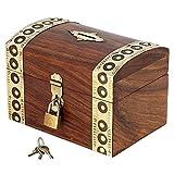 SALVADANAIO DA münzensammeln indische- per gli adulti e bambini- urlaubssparbüchse in legno - L'interno della scatola misura 14 cm x 8,89 x 6,35 cm di altezza e suo esterno offre molto spazio per le monete a 15 cm X 10 cm X 10 cm - Idea regal...