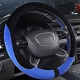 MIAO Schutzfolien von Lenkrad, Winter rutschfeste weiche bequeme warme Plüsch Auto Lenkradabdeckung / Car Interior Supp