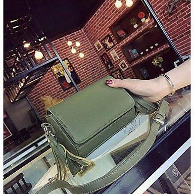 SUNNY KEY-Borsa a tracolla @ Donna Borsa a tracolla PU (Poliuretano) Per tutte le stagioni Casual Cerniera Verde Nero , black green