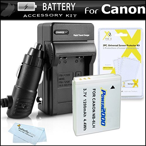 Replacement Battery For Canon NB-6LH NB-6L 1200MAH Each + 1 Hour Charger For Canon Powershot SX280 HS SX280HS SX500 IS SD770 IS SD770IS SD980 SD980 IS SD1200 SD1200 IS D10 D20 IXUS 85 IS XUS 95 IS IXUS 200 IS SX260 HS SX600 HS Digital Camera + More  available at amazon for Rs.2835