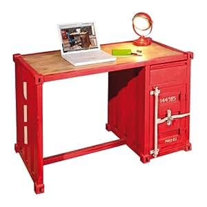 39 links 85000015 iron bureau conteneur table de bois couleur rouge cuisine maison. Black Bedroom Furniture Sets. Home Design Ideas