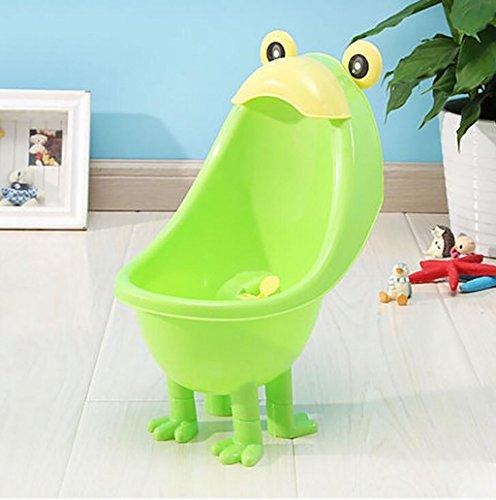 Töpfchen Boy Wand-Urinale, Kinder stehende Urinale, Jungs Happy Töpfchen Training (mit Pinsel und keine Pinsel mit zwei optional) Kinder Frosch Urinal ( Farbe : Grün )