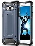 Coolden Samsung Galaxy J5 2016 Hülle, Premium [Armor Serie] Outdoor Stoßfest Schutzhülle Tough Silikon Bumper 4 Air Cushion Ecken Militärstandard Handyhülle für Samsung Galaxy J5 DUOS 2016(Blau)