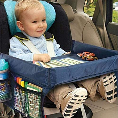 dfgjdryt Original Mode-Zubehör für Kinder Autositz Tisch Reise Zeichnen Spieltablett Baby Buggy Wasserdicht Essen Spielzeug Tisch für Zuhause Dekoration (Keine Farben)