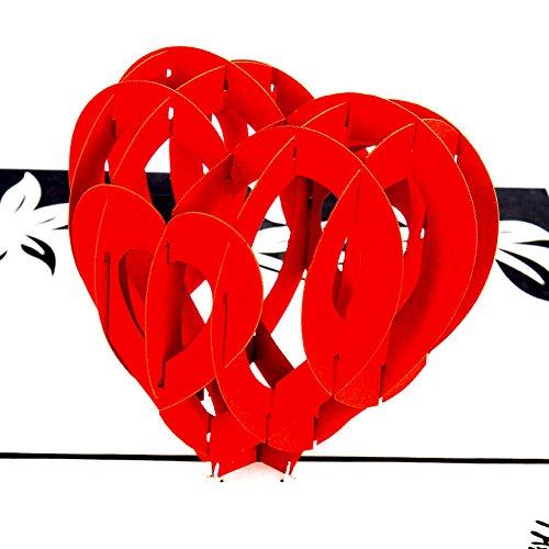 """Pop Up Karte """"Herzkarte – I Love you"""" Liebesgruß, Verlobungskarte,Valentinskarte, Geburtstagskarte, Hochzeitskarte, 3D Karte, Valentinstag, Liebe, Verlobung, Hochzeit"""