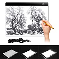 Yeahmart Ultra-Thin LED A3 Light Box Copy Board Drawing Light Pad with USB Cable, Art Craft Drawing Tracing Tattoo Board for Artists, Drawing, Animation, Sketching, Designing