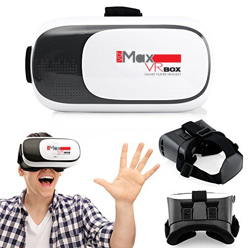 "'VR vibrazione chjgd Premium vizmax 3d vr Cuffie per tutti i tipi di iPhone, Samsung e altri 3.5""-6.0Mobile/Cell Phone Types"