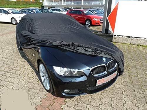 AMS Vollgarage Anti-Frost mit Spiegeltaschen für BMW 3er (E93 Cabrio), schützende Autoabdeckung mit Perfekter Passform, hochwertige Abdeckplane als praktische Auto-Vollgarage