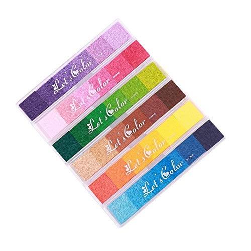 Almohadillas tinta 36 colores lavables manualidades
