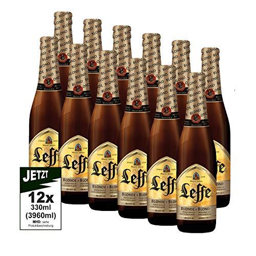 Leffe Blonde Abteibier 12x 330ml SANFT UND MILD, MIT 6.6% - weltbekanntes Bier aus Belgien