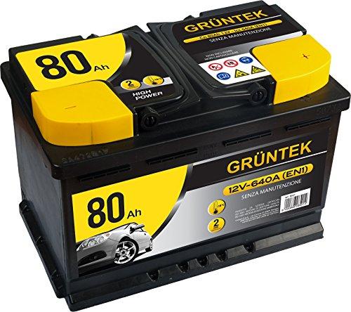 Gruntek L4 Batteria Auto 80AH 640A 12V