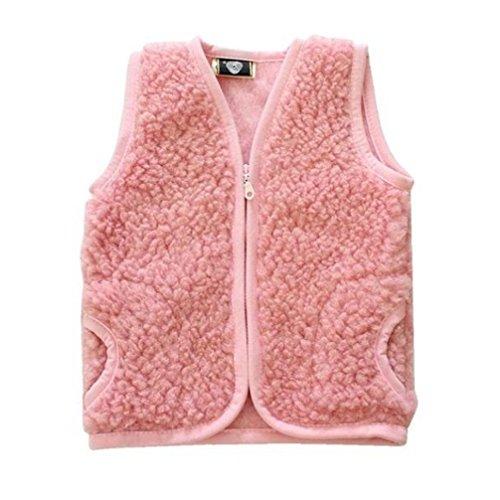Celebration Kinderweste Baby Weste 100% Merino Wolle Schafswolle rosa Gr. 1-3 Jahre