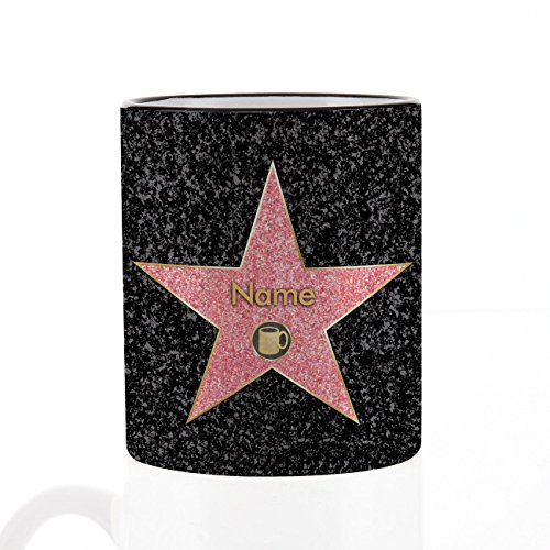 Herz & Heim® Kaffee Becher - Walk of Fame - mit Ihrem gewünschten Namen Herz Kaffee