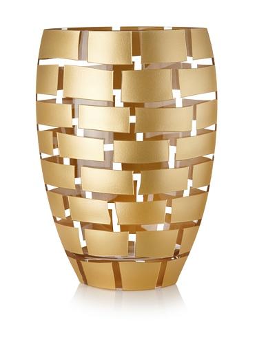 Badash Glasvase, mundgeblasen, 30,5 cm, goldfarben 12 inch farblos Crystal Glass Vase