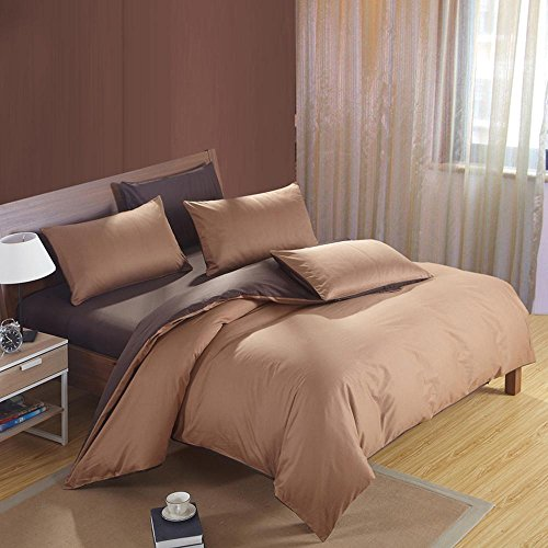 SHIQUNC Baumwolle Druck bettwäsche Plain Schlafzimmer Set 4 stücke 1 bettbezug, 1 bettwäsche, 2 Kissenbezüge, 5, Königin -