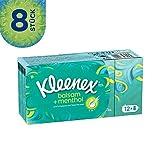 Kleenex Balsam plus Menthol Taschentücher Fresh, 8er Pack (12 x 9 Tücher)