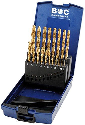 Craft titanitriert spirale Set de forets acier rapide HSS-TiN DIN 338 Type N perçage dans boîte ABS, 19 pièces, 1–10 x 0,5 mm steigend/KT10, 1 pièce, 11301330019