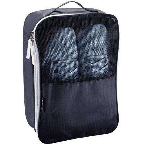 Alpamayo® borsa per scarpe, borsa per scarpe traspirante ideale per lo sport o il viaggio, facile da riporre in borsa, valigia o bagaglio a mano, di colore nero