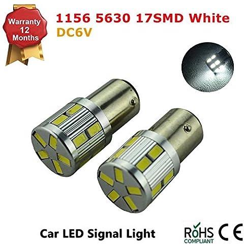 1156 BA15S P21W White 6K DC 6V LED Car Stop/Turn/Reverse/Tail Light Bulb Lamps (Pack of 1)