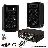 PA Party Kompakt Musikanlage Boxen Verstärker USB MP3 SD Bluetooth DJ-Future