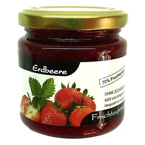 Xylit Fruchtaufstrich'Erdbeere' ohne Zuckerzusatz, nur mit Xylit gesüßt, 70% Fruchtanteil (mehr als Marmeladen), Low Carb, 200 g