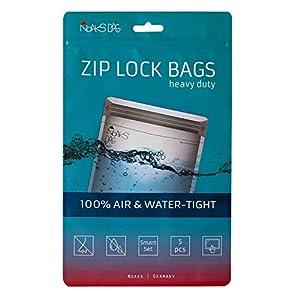 Noaks Bag Smart Set | 5 x – Schutzhülle [1 x XS / 2 x S / 2 x M] | ZIP Beutel – 100% wasserdicht, geruchsdicht & sicher