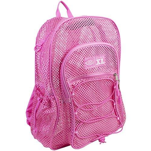 eastsport-xl-sac-a-dos-en-maille-filet-elastique-rose-blush