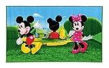 Micky Maus Wunderhaus Maus getanzt - Minnie Maus - Kinder Teppich Kinderteppich mit Micky Mouse und Minnie Mouse / Teppich / Kinder Teppich / Kinderspielteppich / Kinderteppich / Wandteppich / Modell Kinderteppich Disney Micky Maus und Minnie Maus / Wunderhouse / Wunderhaus / Dieser wunderschöne und Kinderteppich mit Micky ist in der Größe 80 x 140 cm und 170 x 100 cm erhältlich / Dieser Kinderteppich begeistert die Kids im Nu. (80 x 140 cm)