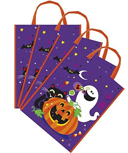 8 Fröhliches Halloween Sammel Taschen mit Kürbis Geist & Katze - Sammeltasche