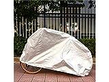 JKHGJUH Langlebig Fahrrad Motorrad Sonnenschutz Staubdicht und Wasserdicht Cover (Silber)